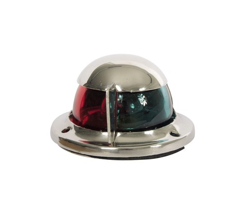12.72 - Φανός Ναυσιπλοΐας Δίχρωμος Inox (Πράσινο-Κόκκινο) Με Κέλυφος Χρωμίου