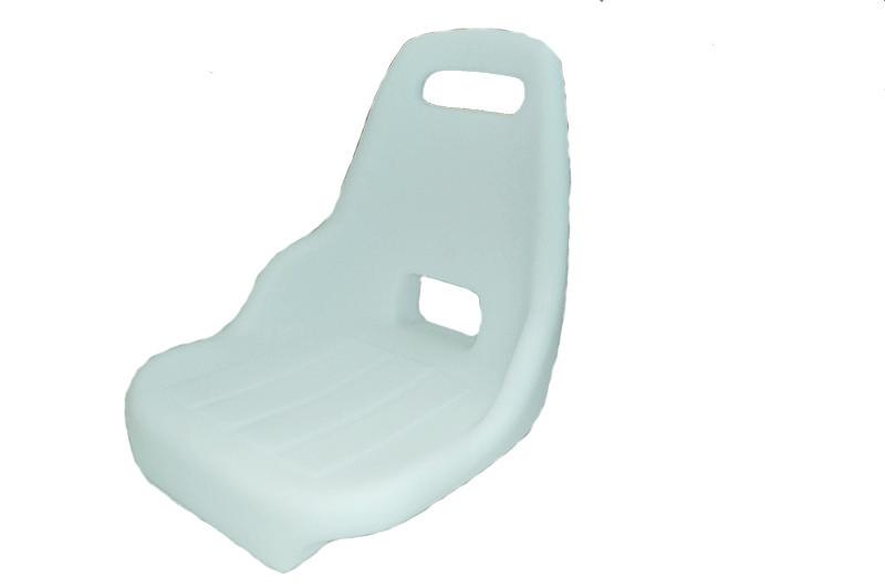 56.83 - Κάθισμα Πλαστικό Λευκό 38cm x 40cm x 40cm
