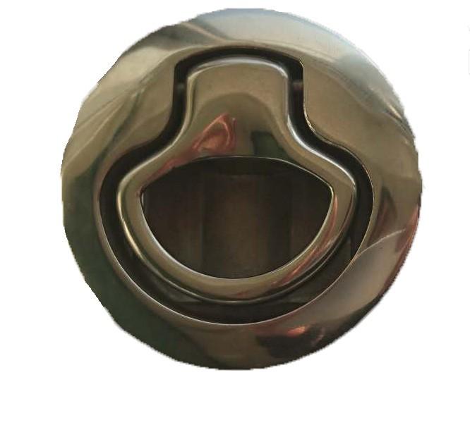 29.74 - Κλειδαριά Inox Χωνευτή Χωρίς Κλειδί