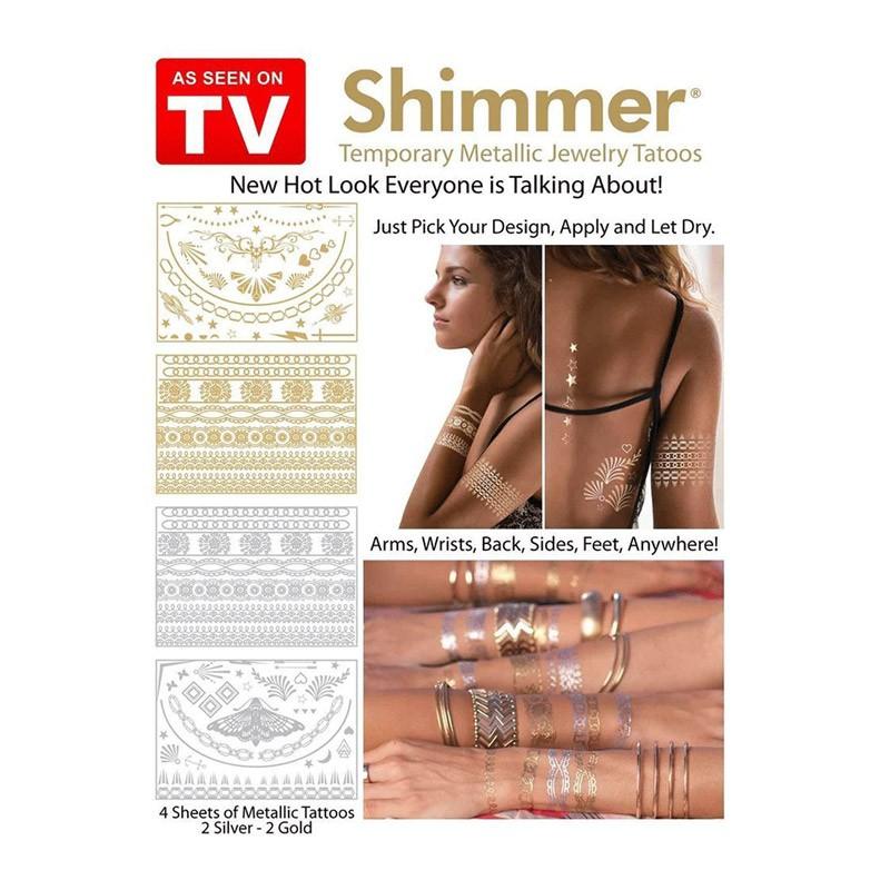 5.9 - Μεταλλικά Τατουάζ- Shimmer Metallic Jewelry Tattoos Gold and Silver Designs