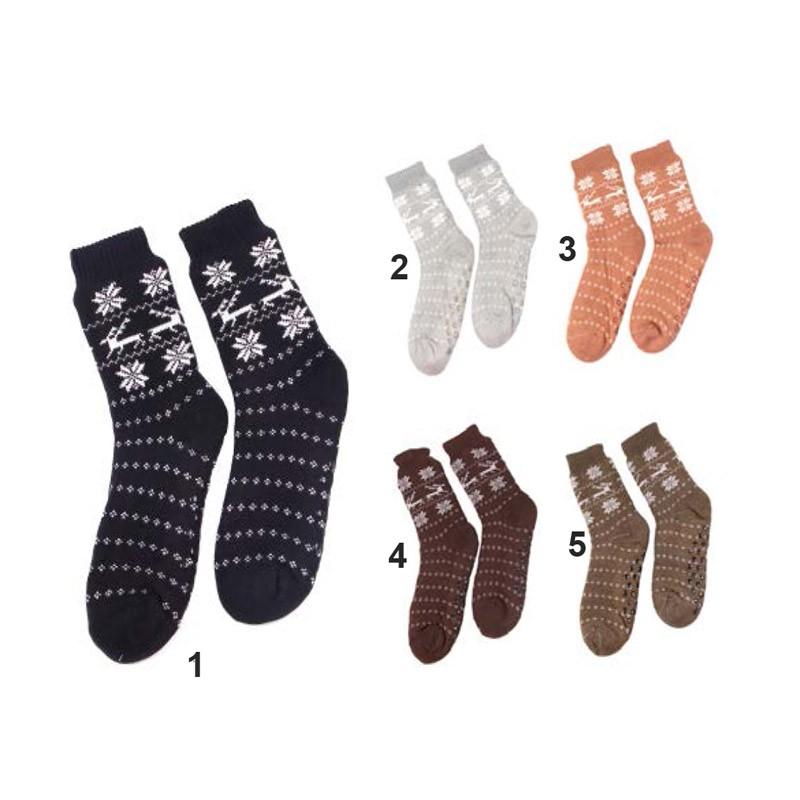 9.9 - Ζεστές Ανδρικές Καλτσοπαντόφλες Ελάφι-Χρώμα 1