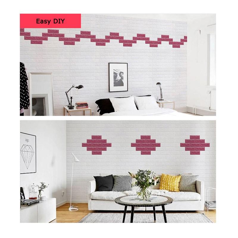 Τρισδιάστατα Αυτοκόλλητα Τοίχου Σετ 24 Τεμαχίων 77 x 70 cm 3D Foam Wall Sticker