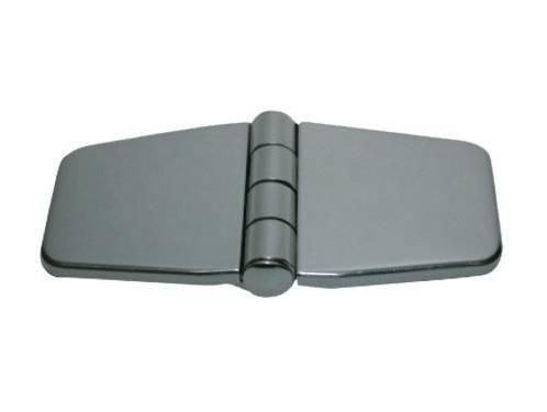 12.8 - Μεντεσέδες Inox Με Καπάκι 76mm x 36,5mm - Σετ Των 2 Τεμαχίων