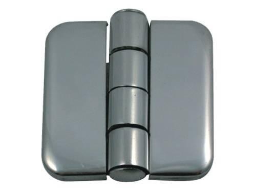 10.44 - Μεντεσέδες Inox Με Καπάκι 35,7mm x 36,5mm - Σετ Των 2 Τεμαχίων