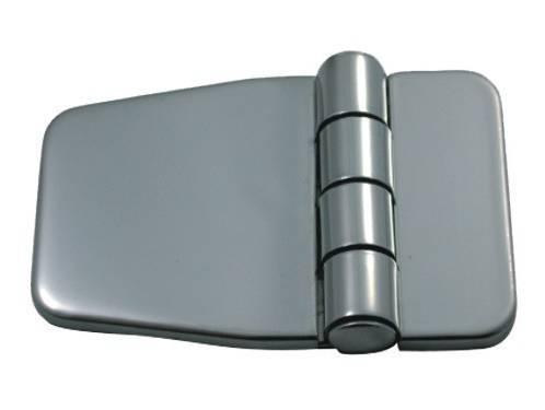 12.2 - Μεντεσέδες Inox Με Καπάκι 56,7mm x 36,5mm - Σετ Των 2 Τεμαχίων