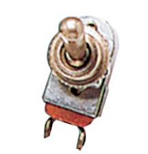 20.4 - Διακόπτης 2 Θέσεων 12V 10A Ορειχάλκινος Επιχρωμιωμένος - Συσκευασία Των 5 Τεμαχίων