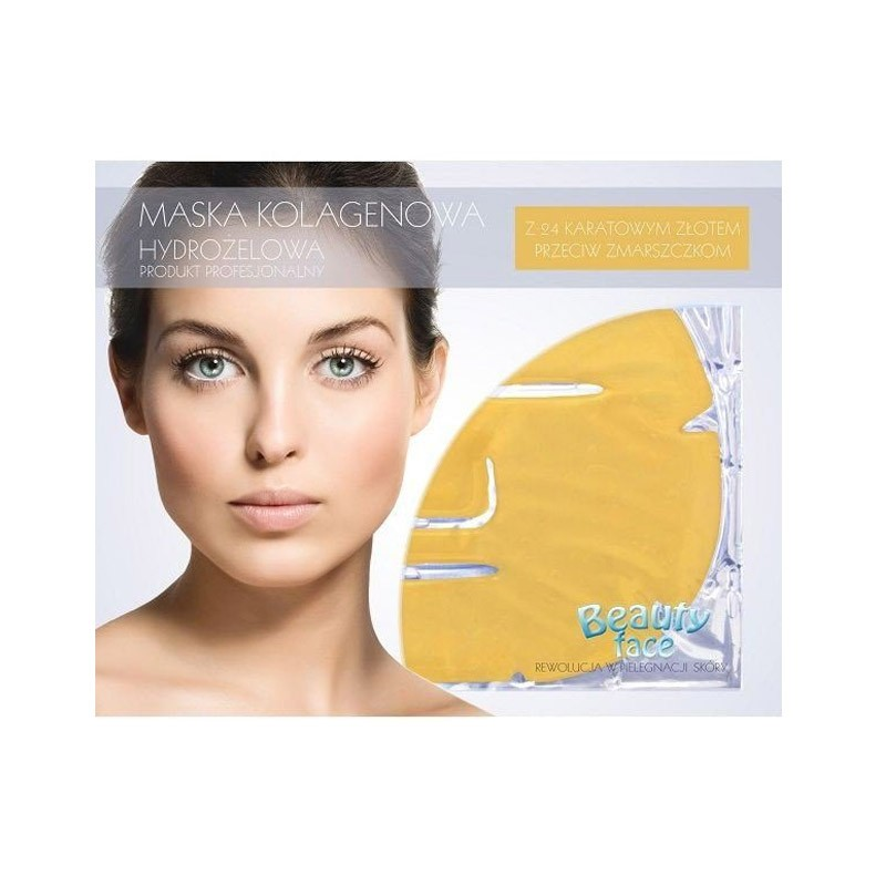9.9 - Αντιγηραντική Μάσκα Προσώπου με Κολλαγόνο, Υαλουρονικό Οξύ και 24Κ Χρυσό Beauty Face
