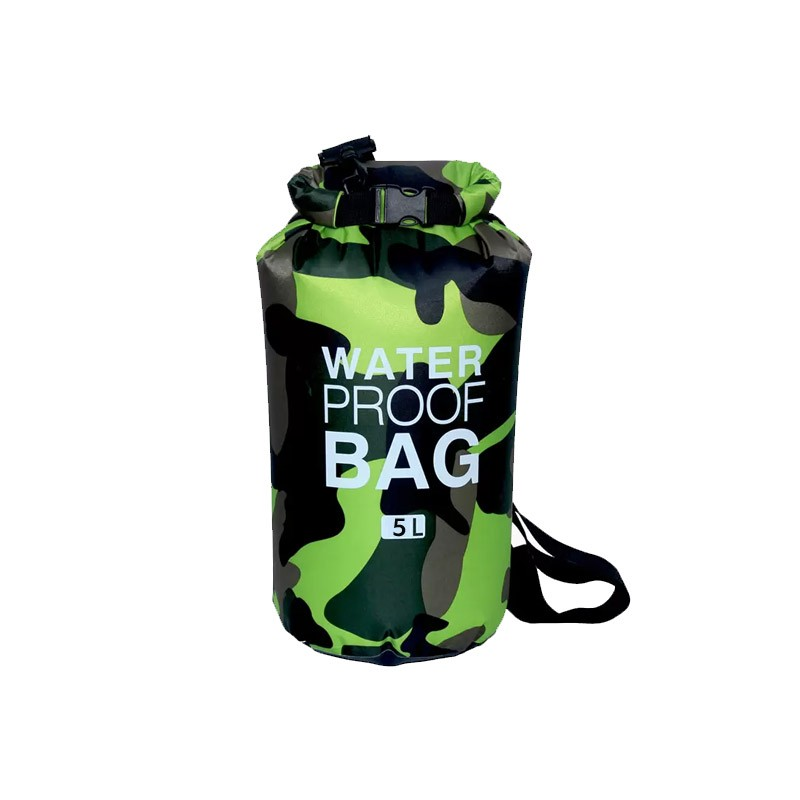 11.9 - Αδιάβροχος Ισοθερμικός Σάκος 5 Lt σε Σχέδιο Παραλλαγής Χρώματος Πράσινο