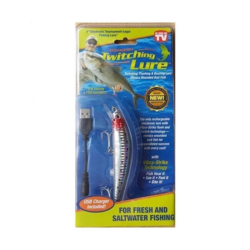 16.9 - Επαναφορτιζόμενο Τεχνητό Δόλωμα Ψάρι με Δόνηση και LED Φωτισμό