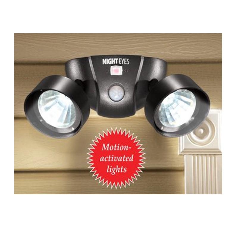 16.5 - Ασύρματο Διπλό Φωτιστικό LED με Ανιχνευτή Κίνησης  Χρώματος Μαύρο Night Eyes