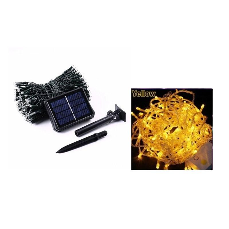 14.9 - Ηλιακά Φωτάκια Κήπου Led με 8 Προγράμματα Χρώματος Κίτρινο