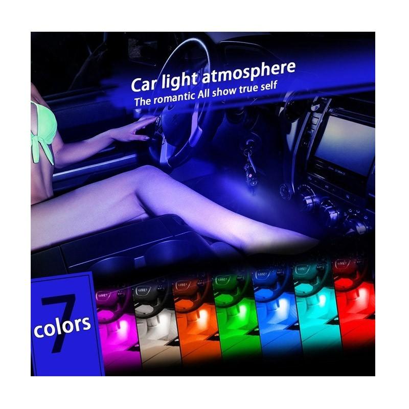 14.9 - Led Φωτισμού Ατμόσφαιρας Αυτοκινήτου Με Τηλεχειριστήριο