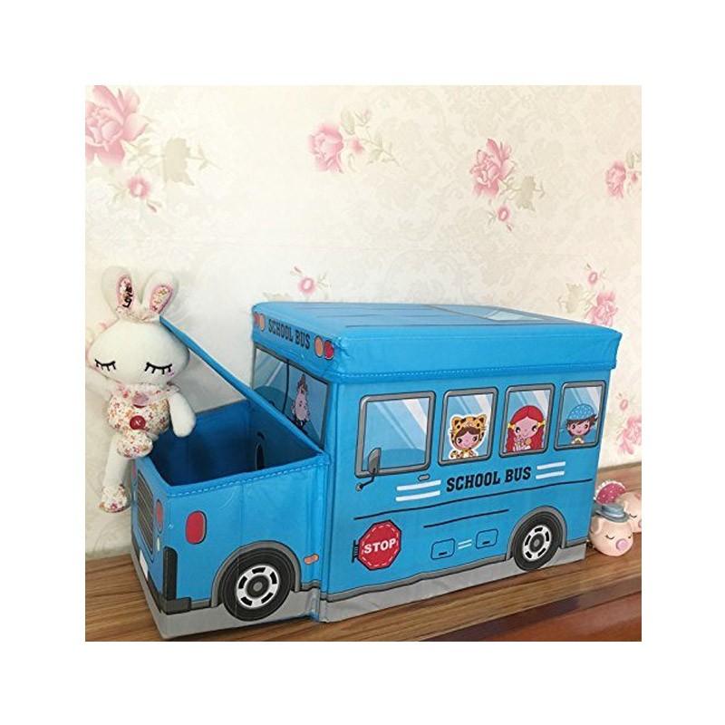 13.9 - Παιδικό Κάθισμα και Κουτί Αποθήκευσης Λεωφορείο Χρώματος Μπλε