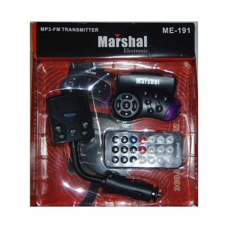 17.9 - MP3 Player FM Transmitter με Χειριστήριο στο Τιμόνι Marshal ME-191