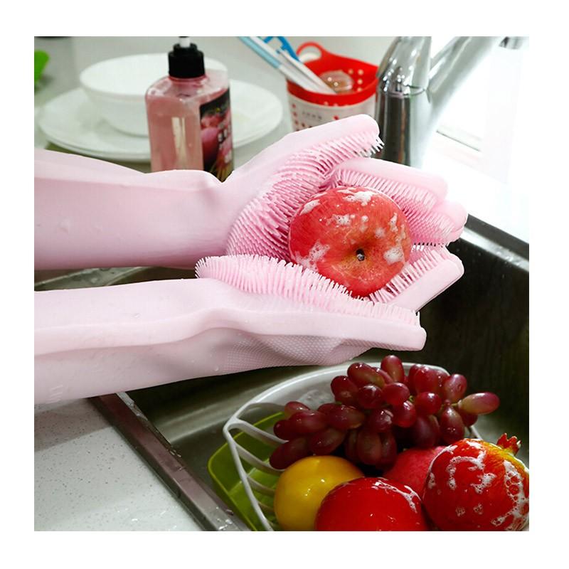 13.9 - Γάντια Σιλικόνης για την Κουζίνα Πολλαπλών Χρήσεων Χρώματος Γκρι
