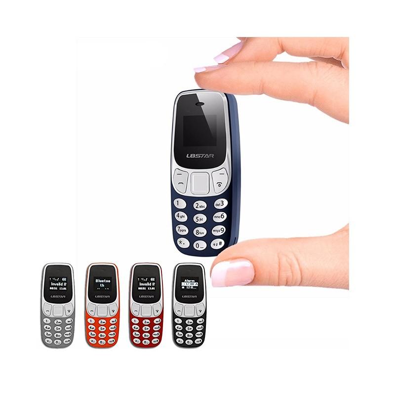 29.9 - Ultra Mini Δίκαρτο Κινητό Τηλέφωνο με Bluetooth και MP3 Player Χρώματος Γκρι