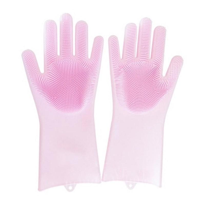 13.9 - Γάντια Σιλικόνης για την Κουζίνα Πολλαπλών Χρήσεων Χρώματος Ροζ