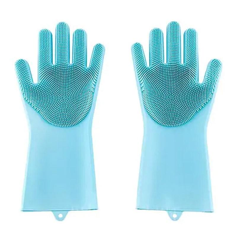 13.9 - Γάντια Σιλικόνης για την Κουζίνα Πολλαπλών Χρήσεων Χρώματος Τυρκουάζ