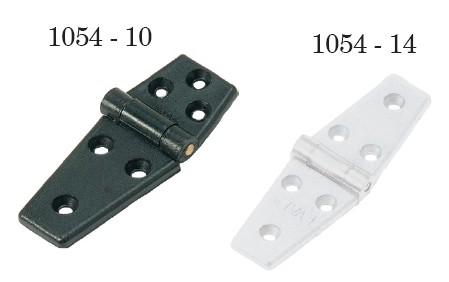 10.45 - Μεντεσέδες Πλαστικοί Λευκοί 125mm x 40mm - Σετ Των 5 Τεμαχίων