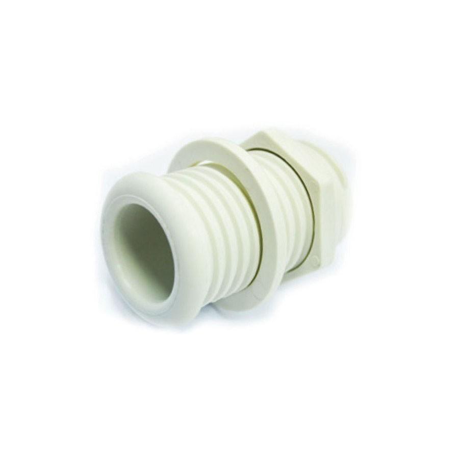 9.21 - Υδρορροή Πλαστική Σπειρώματος Ø25mm Χρώμα Λευκό
