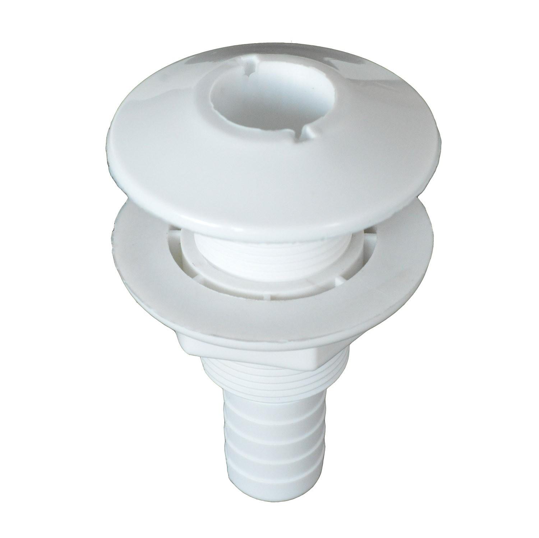 11.55 - Υδρορροή Πλαστική Για Σωλήνα Ø22mm Χρώμα Λευκό - Συσκευασία Των 5 Τεμαχίων