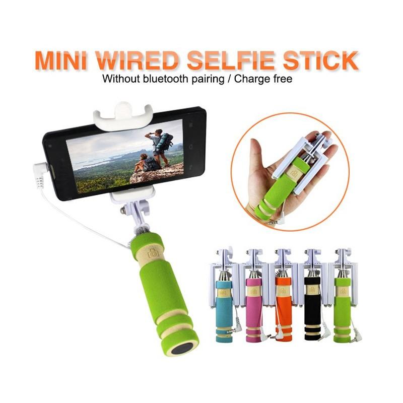 7.5 - Ενσύρματο Selfie Stick 4 σε 1-Πράσινο