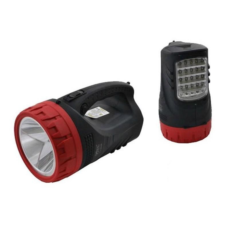 27.9 - Επαναφορτιζόμενος Φακός με LED και Προβολέα