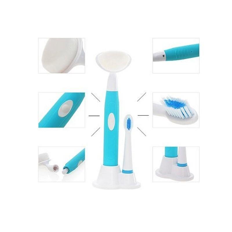 7.9 - Ηλεκτρική Οδοντόβουρτσα - Συσκευή Καθαρισμού Προσώπου 2 σε 1 KEMEI
