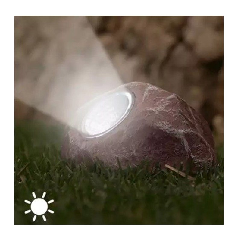 9.9 - Ηλιακό Φωτιστικό Led σε Σχήμα Πέτρας