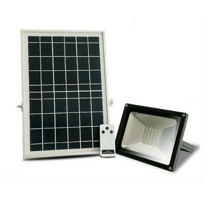 75.9 - Ηλιακός Προβολέας LED 50W με Τηλεχειριστήριο και Αισθητήρα Φωτός