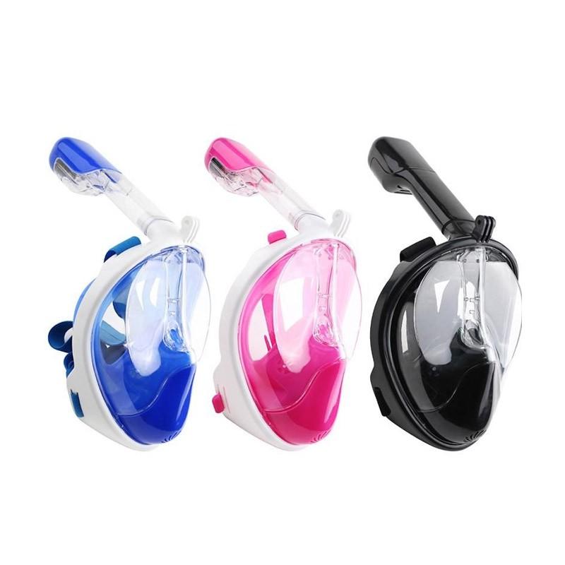 34.9 - Ολοπρόσωπη Μάσκα με Αναπνευστήρα και Βάση για Action Κάμερα Χρώματος Ροζ