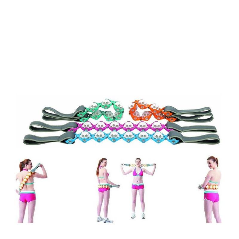 9.9 - Όργανο Μασάζ Με Κυλίνδρους για Πλάτη, Αυχένα και Μέση-Ροζ