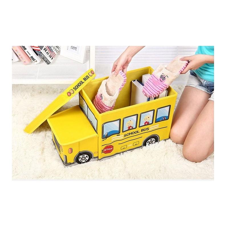 13.9 - Παιδικό Κάθισμα και Κουτί Αποθήκευσης Λεωφορείο Χρώματος Κίτρινο