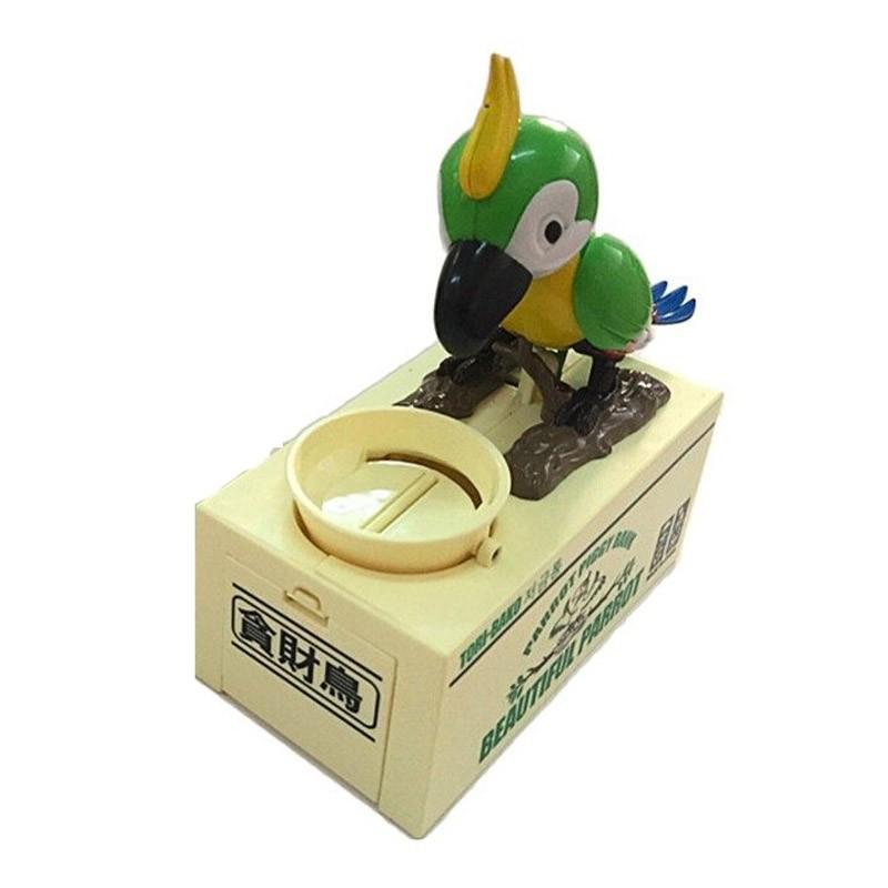 13.9 - Παιδικός Κουμπαράς Πεινασμένος Παπαγάλος Χρώματος Πράσινο