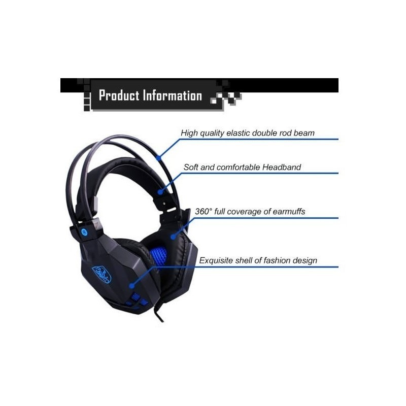 Ακουστικά Gaming Headset Stereo Headphones | 787.gr