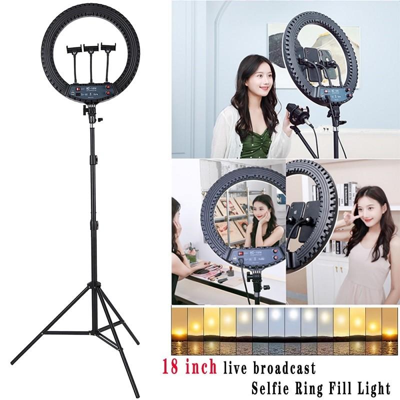 59.9 - Επαγγελματικό Φωτογραφικό Φωτιστικό Δαχτυλίδι  LED 45W με Τηλεχειριστήριο