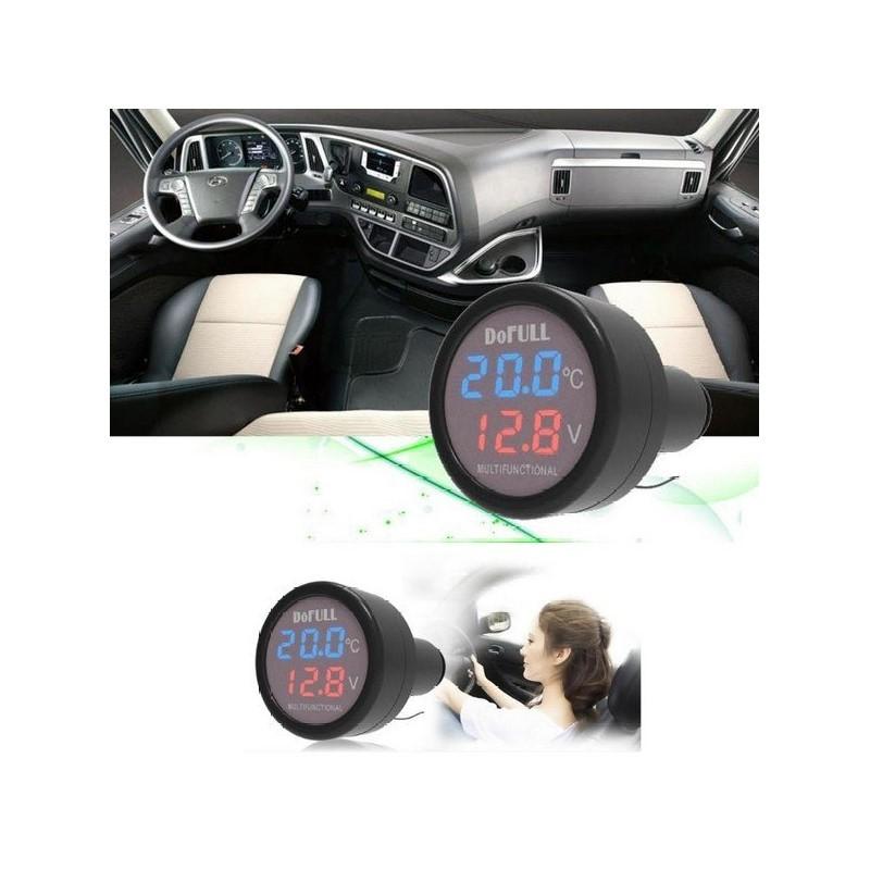11.9 - Βολτόμετρο Θερμόμετρο Αυτοκινήτου με Θύρα Φόρτισης USB 2.1A