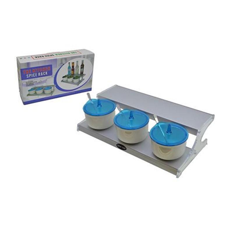 9.9 - Μαγνητικά Βαζάκια Μπαχαρικών με Βάση