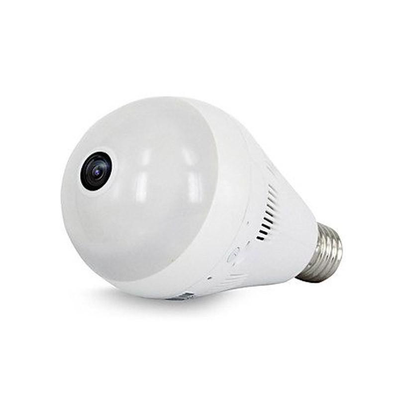 Λάμπα LED & Πανοραμική Κάμερα 360 Μοιρών