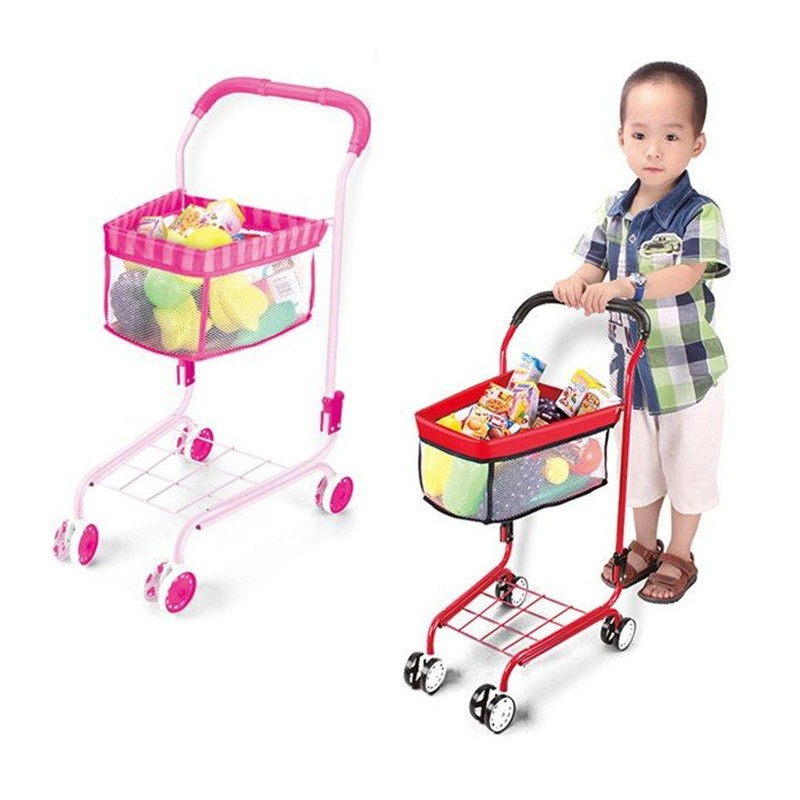 15.9 - Παιδικό Καροτσάκι Super Market Χρώματος Ροζ