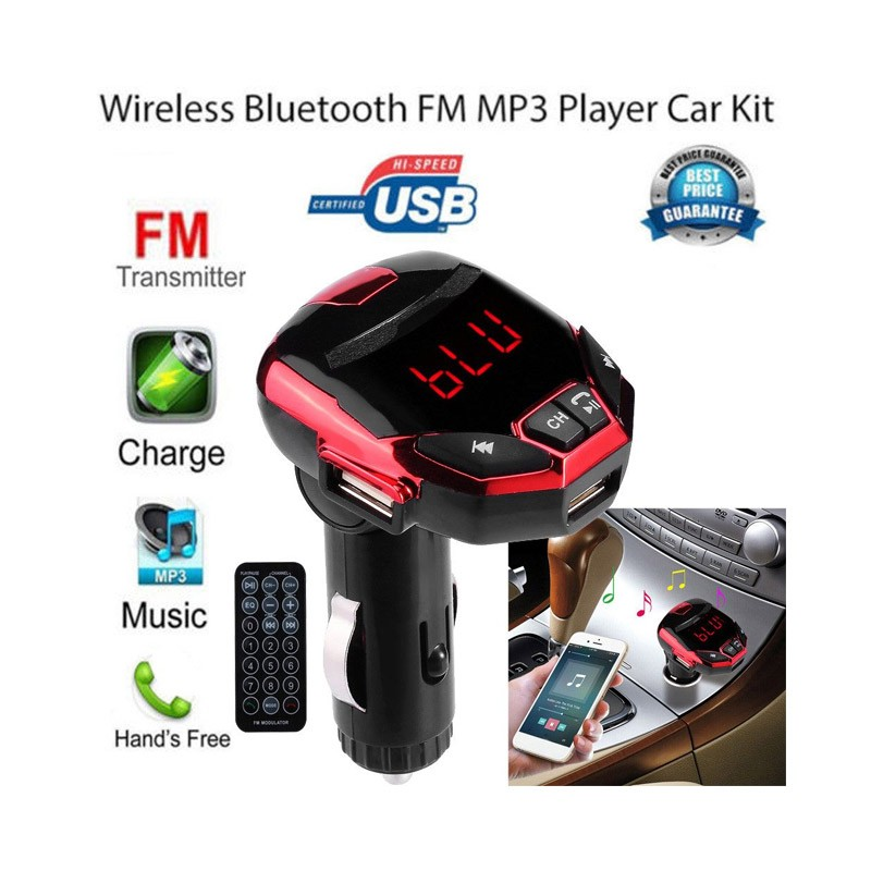 14.9 - Πομπός FM Media Player και Φορτιστής Αυτοκινήτου 8 σε 1