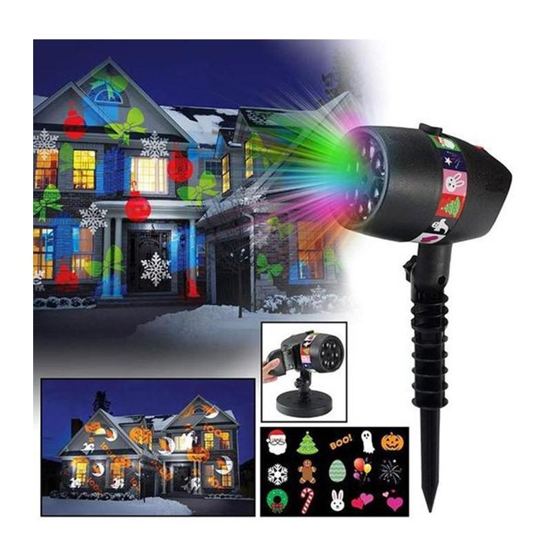 Νυχτερινός Διακοσμητικός Φωτισμός LED με 12 Slides