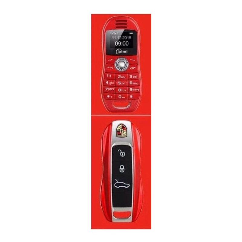 Μίνι Κινητό Τηλέφωνο Χρώματος Κόκκινο σε Σχήμα Κλειδιού Αυτοκινήτου OEM