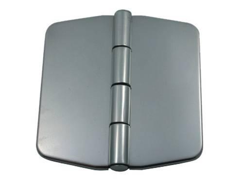 12.33 - Μεντεσές Inox Με Καπάκι 74mm x 75mm