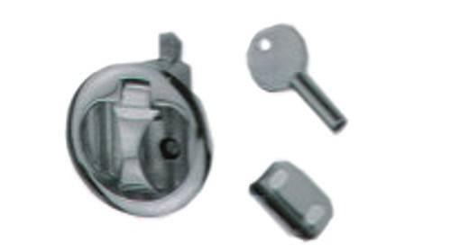27.41 - Κλειδαριά Inox Χωνευτή Με Κλειδί