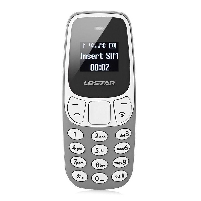Ultra Mini Δίκαρτο Κινητό Τηλέφωνο με Bluetooth και MP3 Player Χρώματος Γκρι