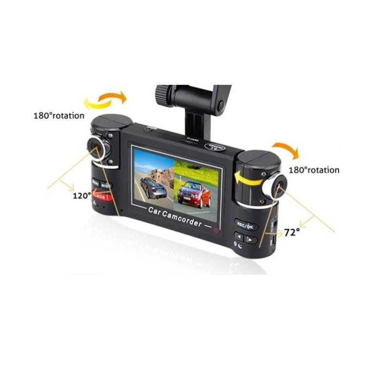 Διπλή Κάμερα Αυτοκινήτου με Περιστρεφόμενους Φακούς