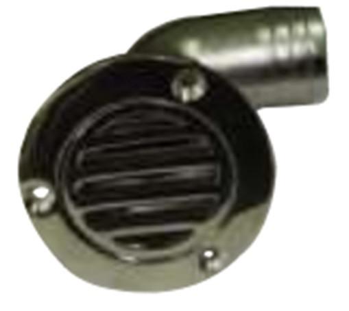 37.57 - Υδρορροή Inox Αποχέτευσης Γωνιακή 90° Για Σωλήνα Ø80mm