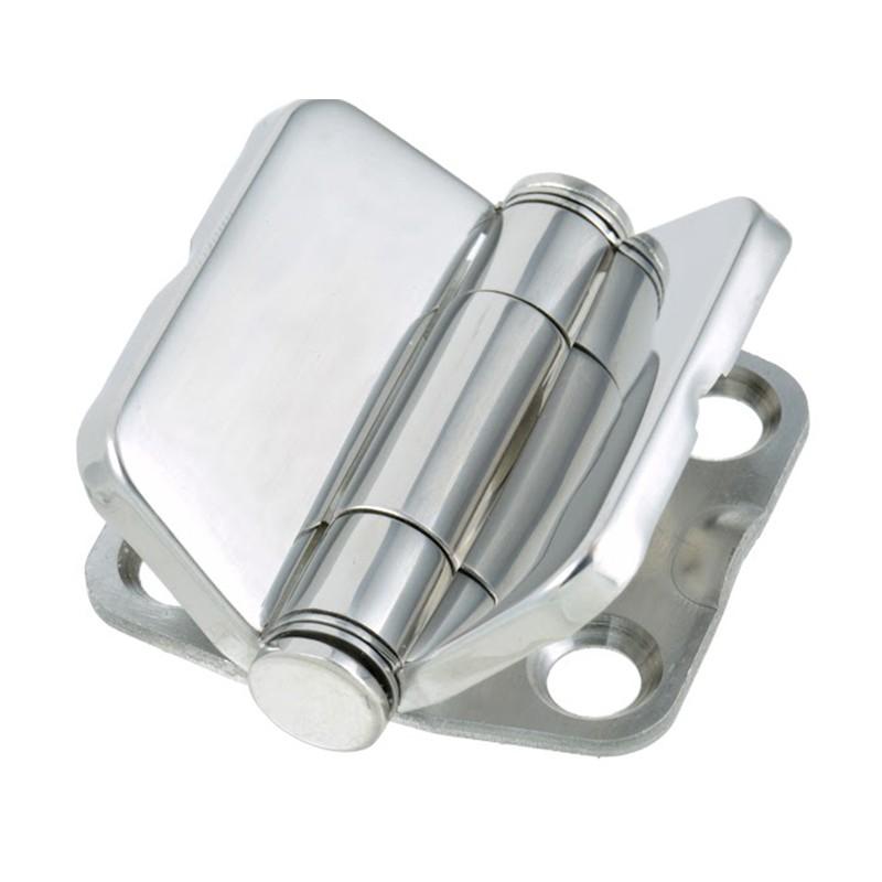 18.21 - Μεντεσές Inox Με Καπάκι Ενισχυμένος 39.6mm x 41.8mm