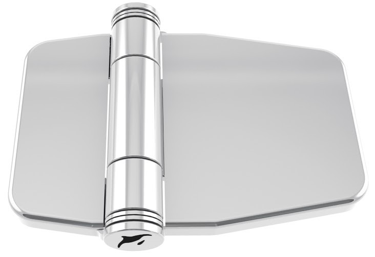 20.74 - Μεντεσές Inox Με Καπάκι Ενισχυμένος 39.6mm x 59.9mm